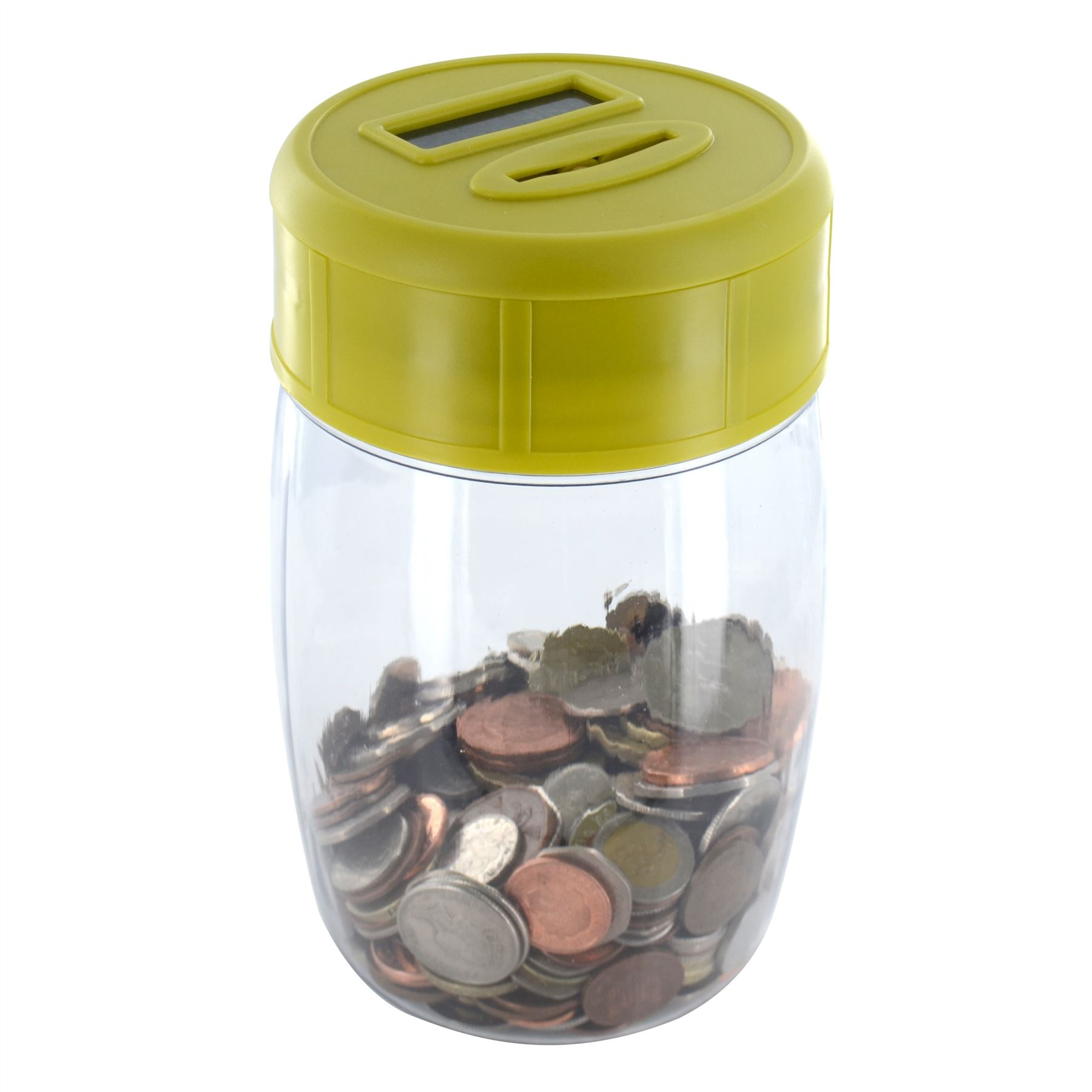 New digital coin counter money piggy bank counting saving jar box lcd display ebay - Coin bank that counts money ...
