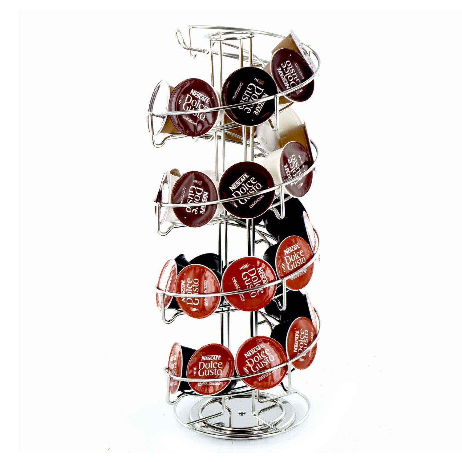 coffee capsule pod rotating standing tower rack dolce gusto tassimo nespresso ebay. Black Bedroom Furniture Sets. Home Design Ideas