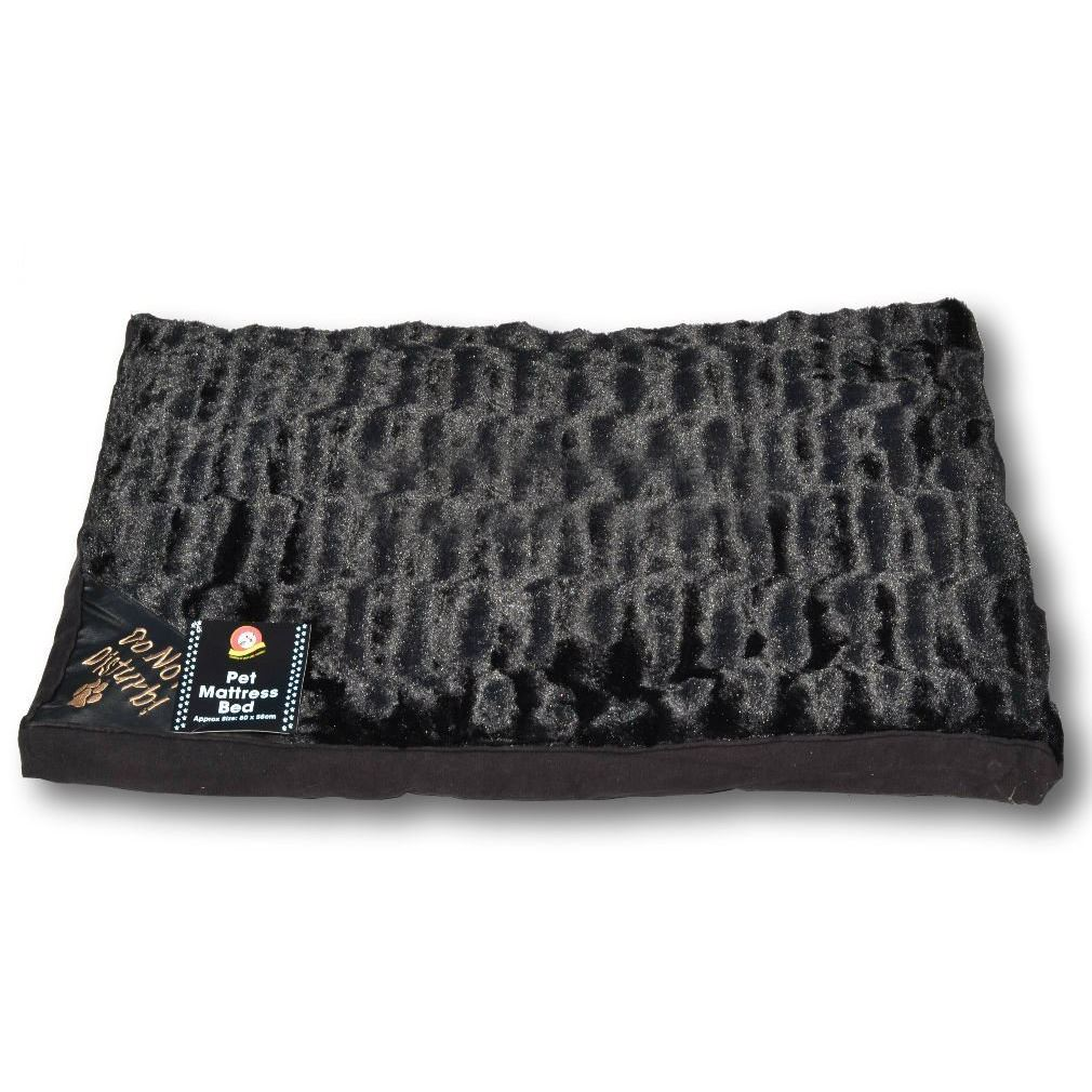 pet dog mattress soft faux fur large luxury mat warm bed puppy pillow. Black Bedroom Furniture Sets. Home Design Ideas