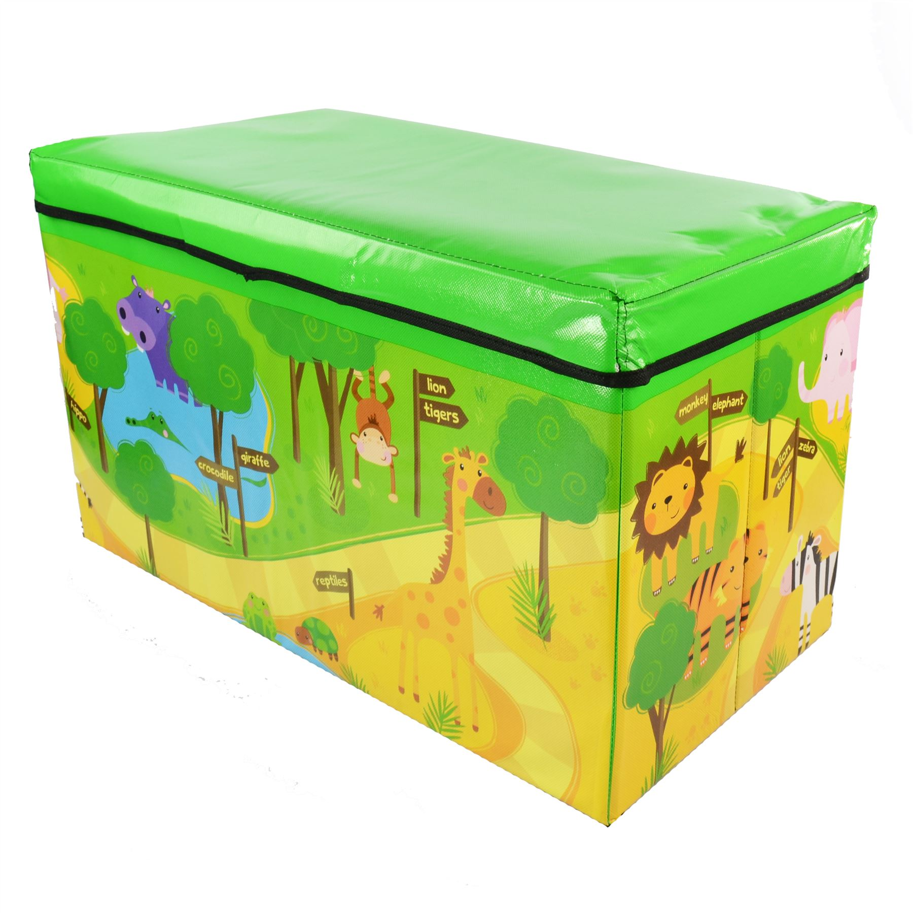 Toy Boxes For Boys : Kids childrens large storage toy box boys girls books