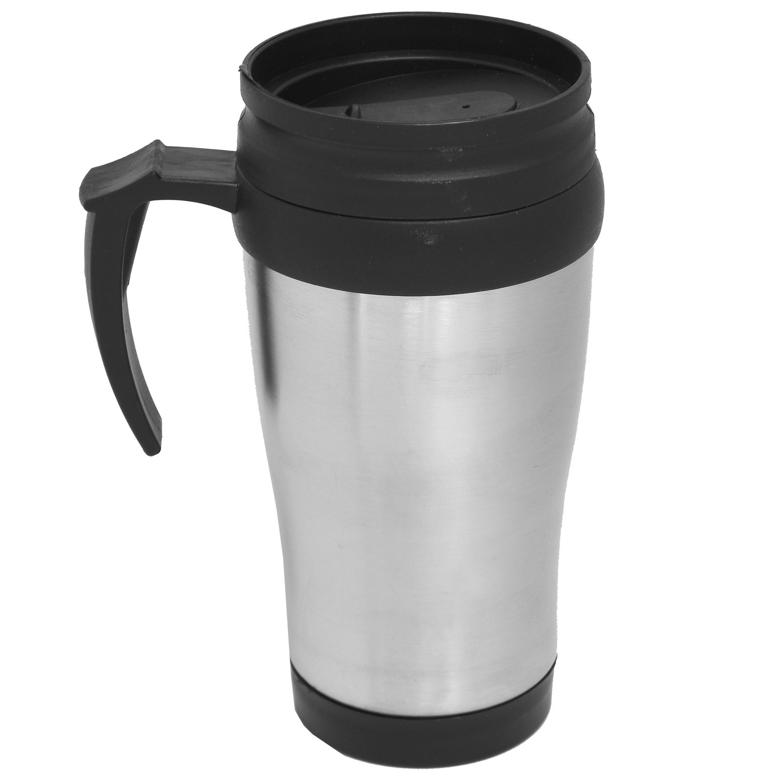450ml travel mug stainless steel non spill thermal insulated tea coffee cup ebay. Black Bedroom Furniture Sets. Home Design Ideas