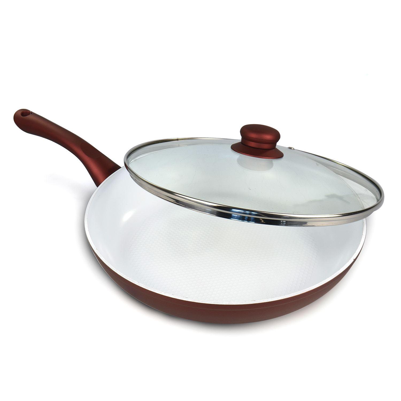 24cm non stick ceramic coated aluminium pan frying. Black Bedroom Furniture Sets. Home Design Ideas