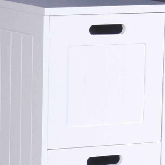3 Drawers White Wooden Bathroom Storage Cabinet