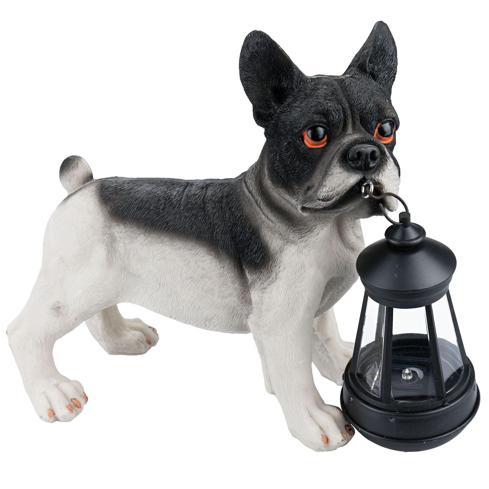 solaire nergie led bulldog lumi re chien d coration jardin ornement de animal ebay. Black Bedroom Furniture Sets. Home Design Ideas