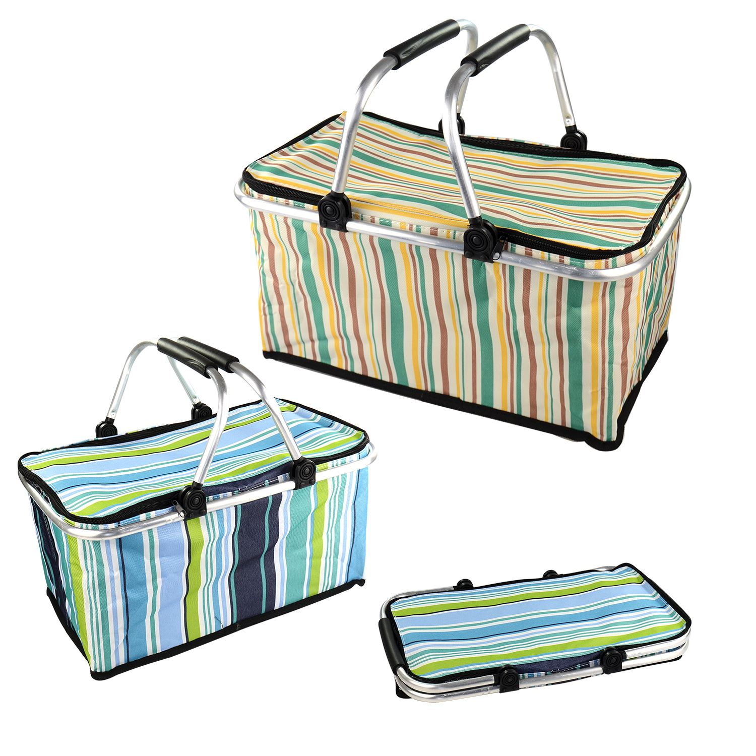 Collapsible Insulated Picnic Basket For 4 : Folding picnic basket hamper insulated camping cooler