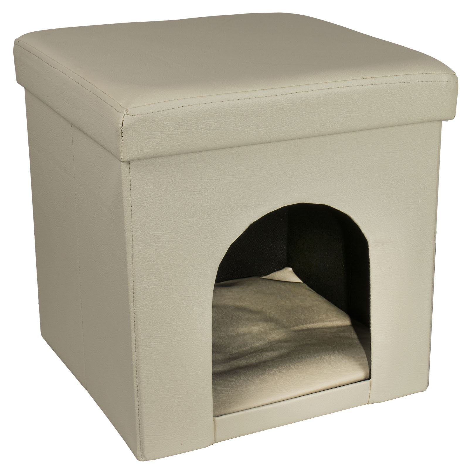 Ottoman Dog Cat Pet House Bed Hideaway Foldable Foot Stool