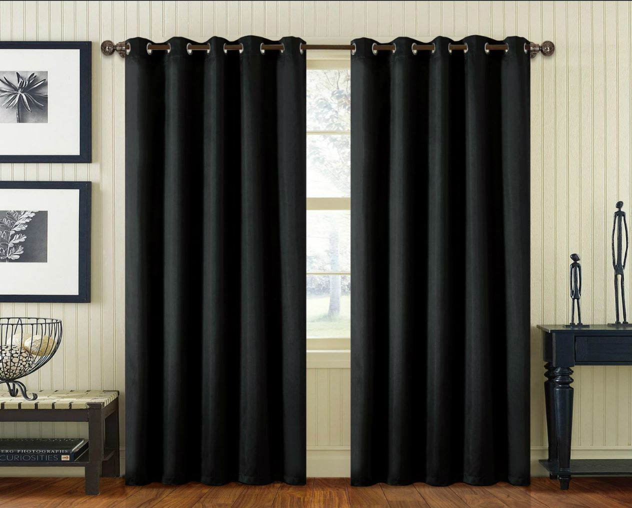 pair faux silk curtain ring top eyelet fully lined super. Black Bedroom Furniture Sets. Home Design Ideas