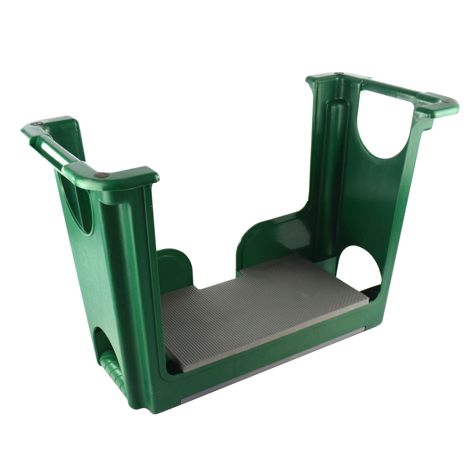 Portable plastic garden kneeler foam chair padded storage for Gardening kneeling stool