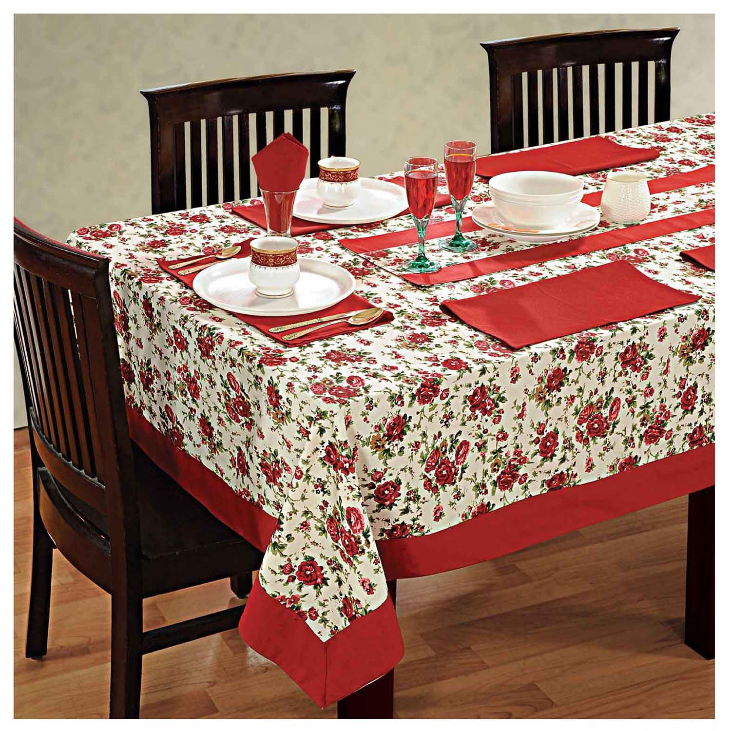 6 Seater Dinner Party Table Linen Set Kitchen