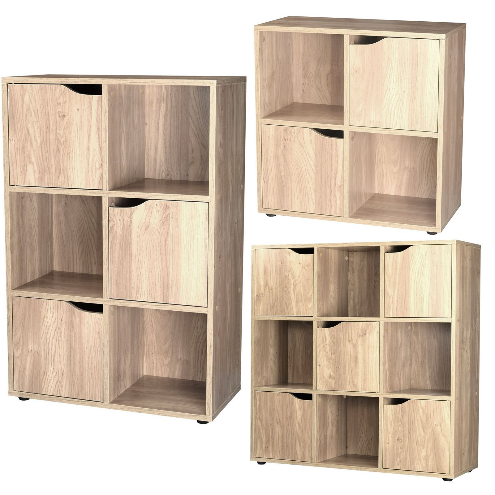 4 6 9 wooden cube storage unit display shelves cupboard. Black Bedroom Furniture Sets. Home Design Ideas