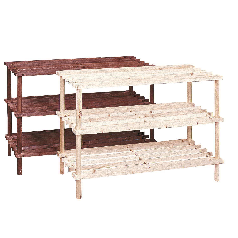 new 3 tier shoe rack shelf stand natural wood storage. Black Bedroom Furniture Sets. Home Design Ideas