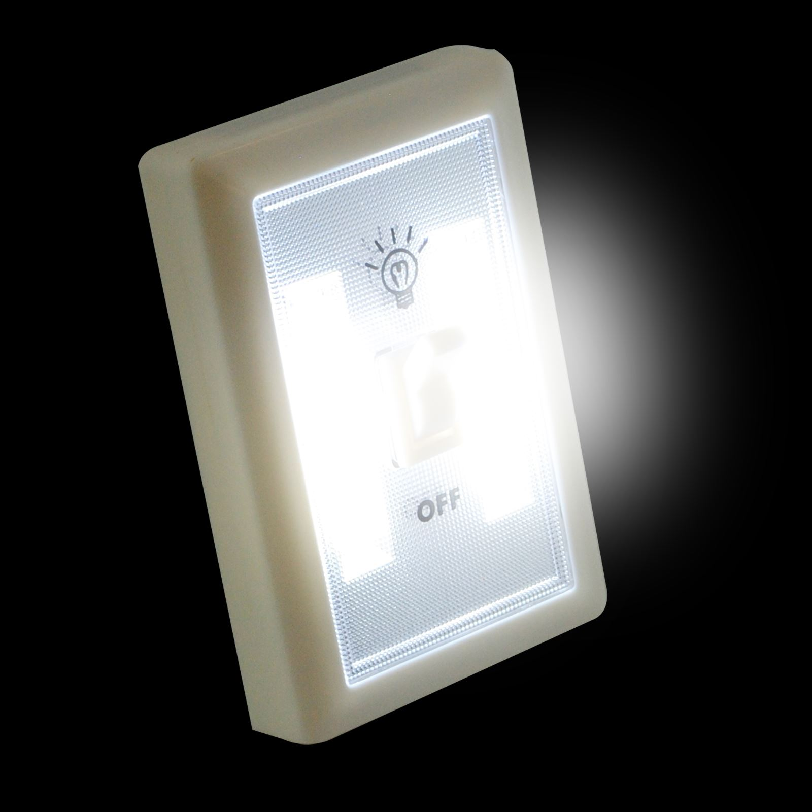 2w cob led light switch super bright portable night lamp battery powered no wire ebay. Black Bedroom Furniture Sets. Home Design Ideas