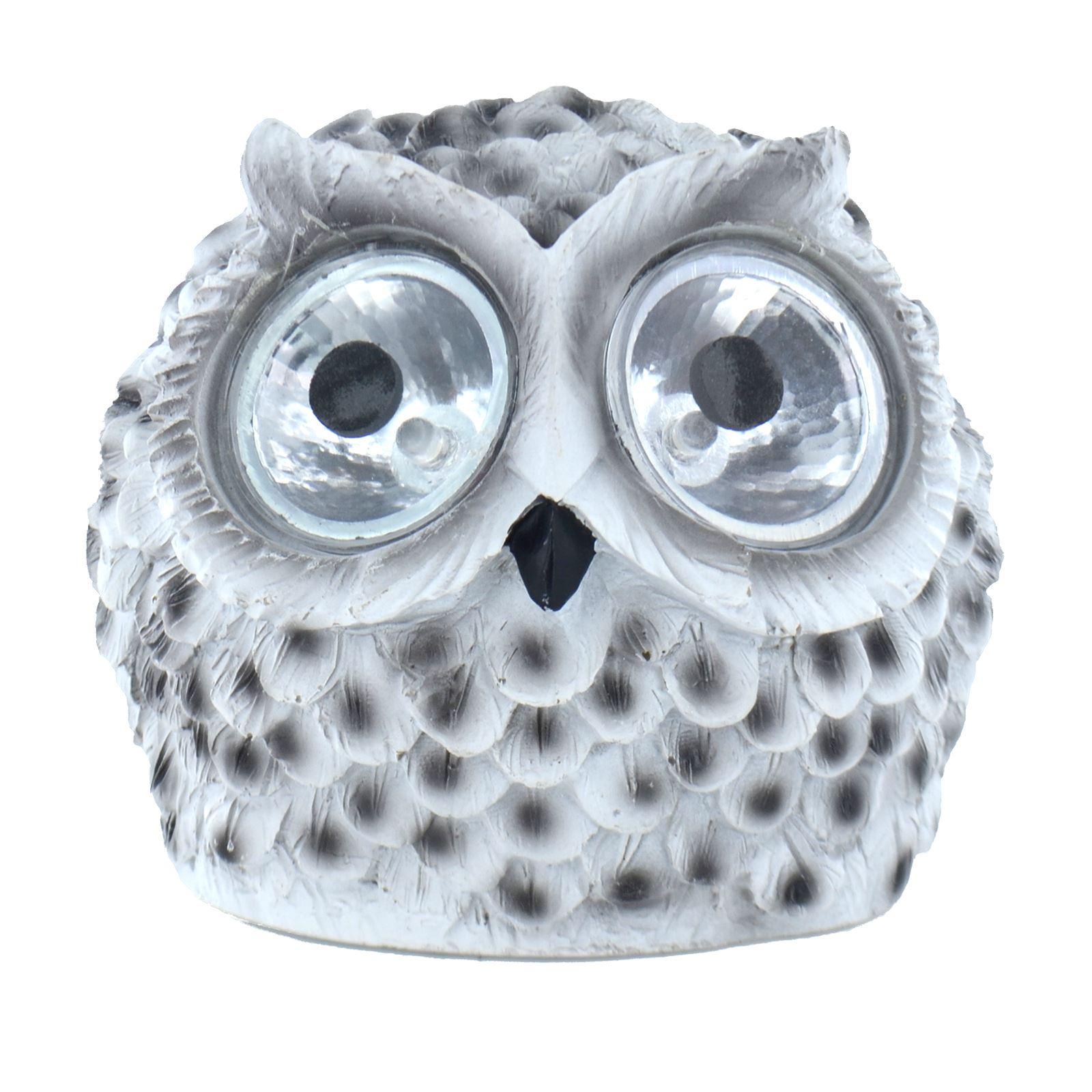 Novelty Solar Powered Owl LED Light Outdoor Garden Ornament Animal Lighting eBay