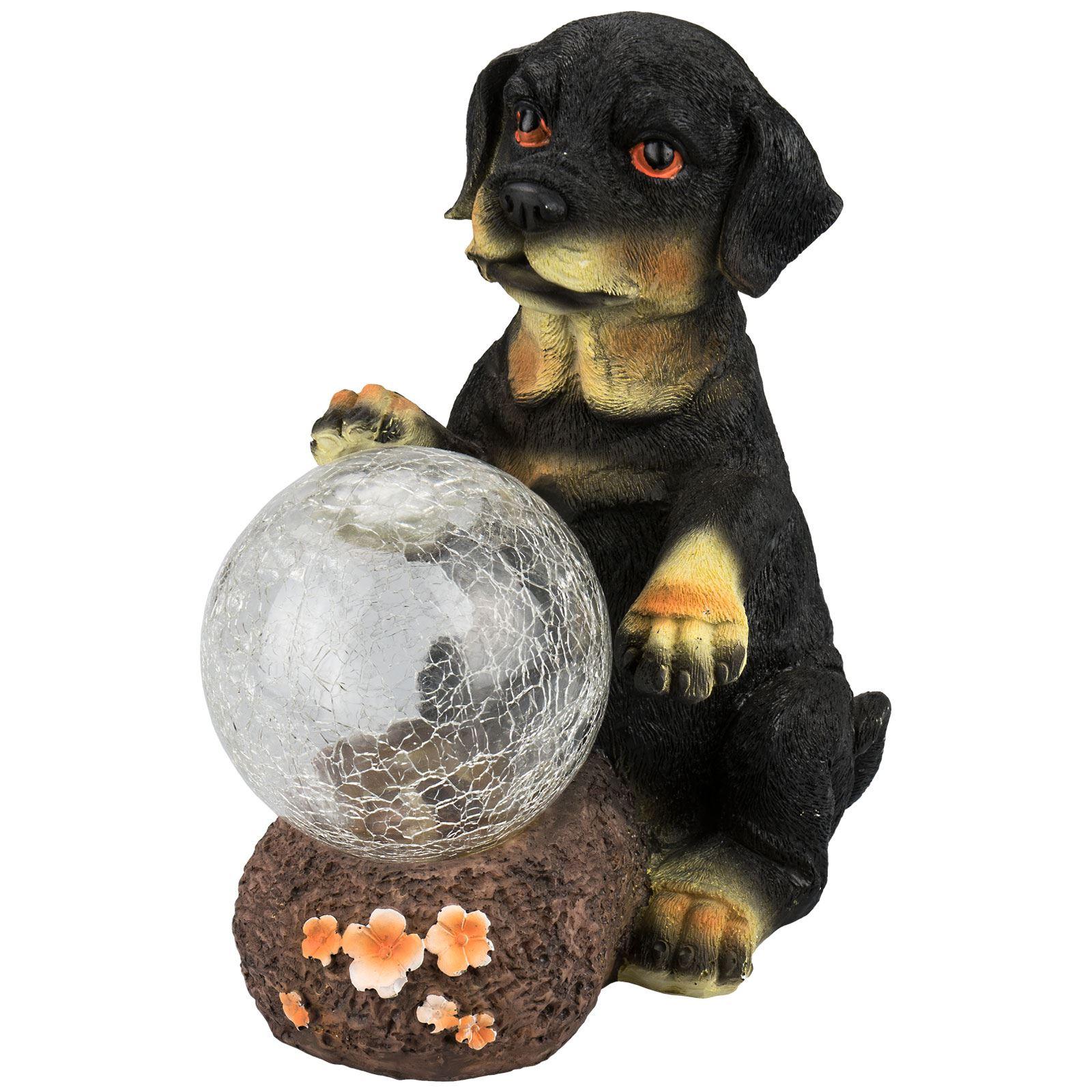 solaire nergie led chiot lumi re chien d coration jardin ornement de animal ebay. Black Bedroom Furniture Sets. Home Design Ideas