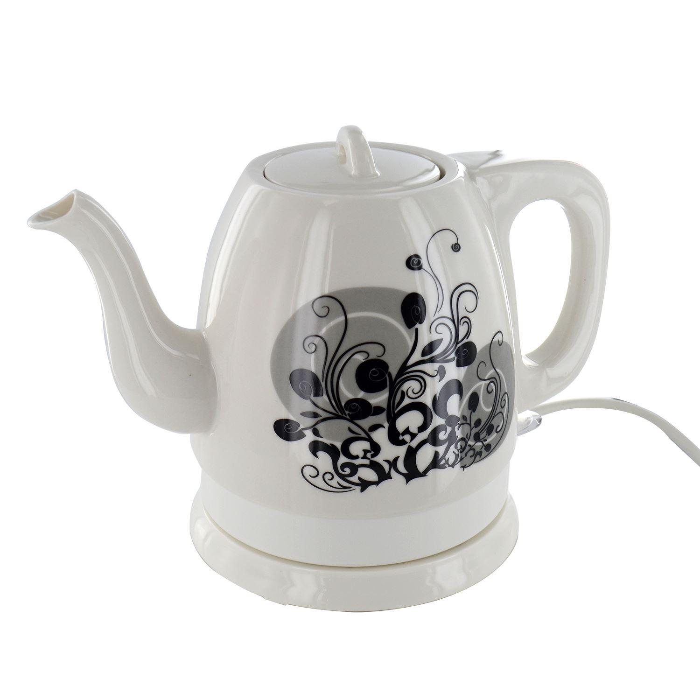 Porcelain Electric Kettle ~ Ceramic electric kettle new cordless litre tea pot
