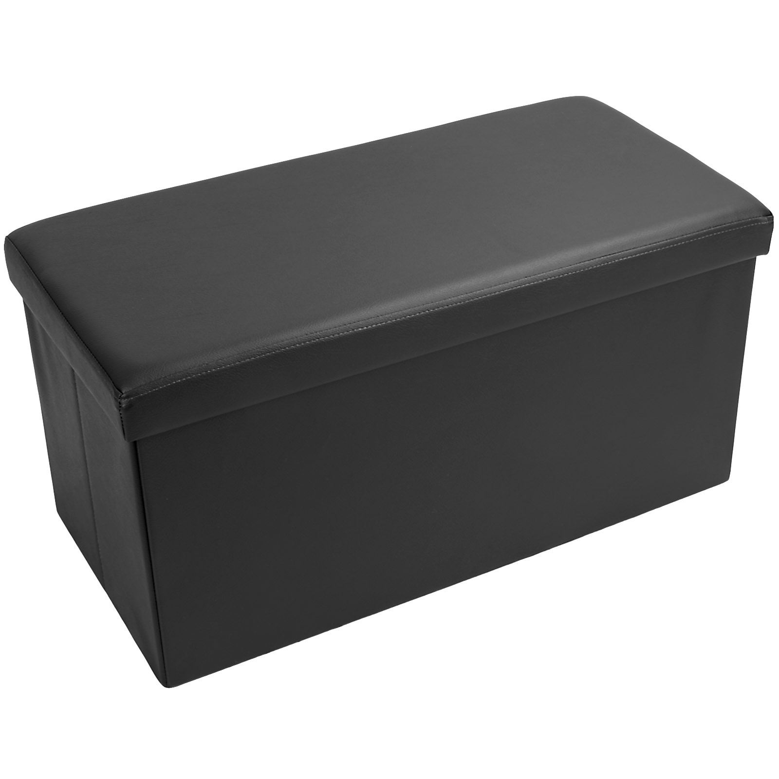 large ottoman folding storage box blanket toy foot rest. Black Bedroom Furniture Sets. Home Design Ideas