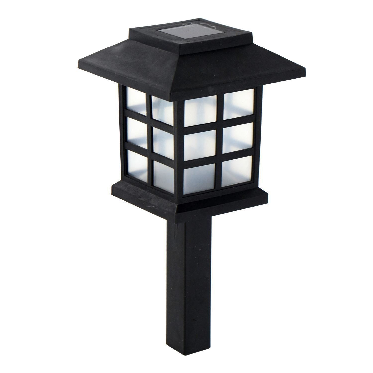 Solar powered carriage lights outdoor garden oriental led post stake lantern ebay for Solar exterior post lantern light