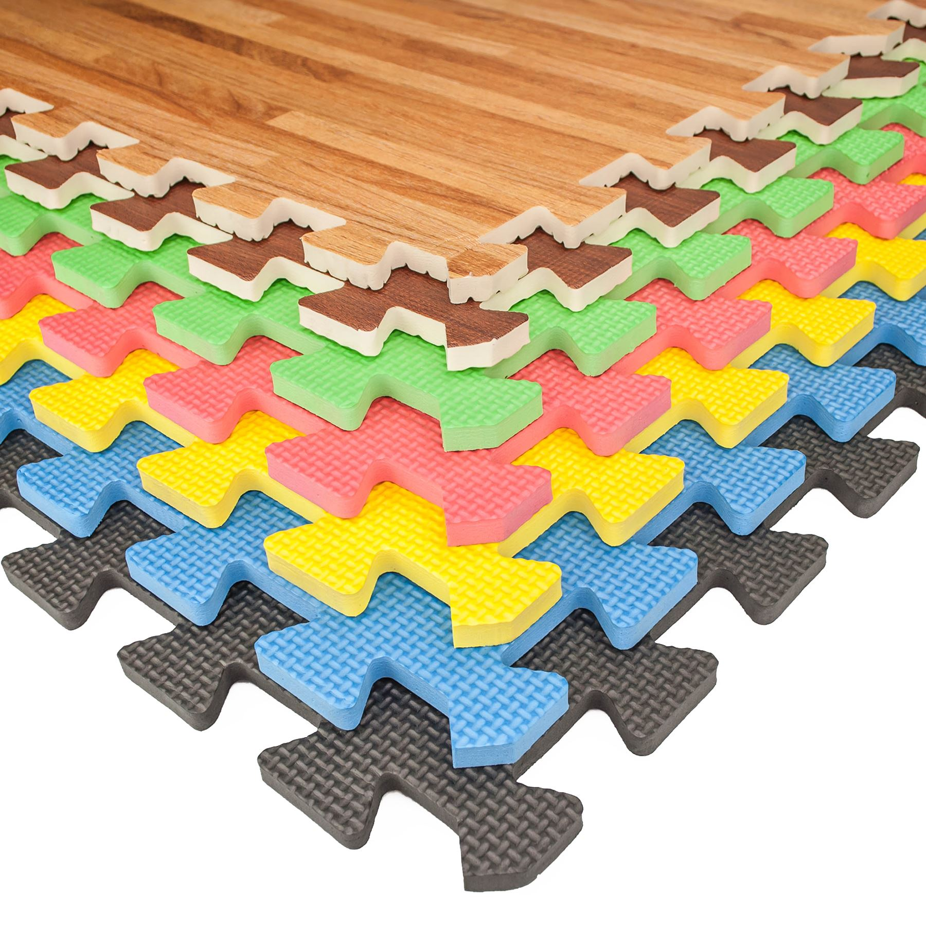 eva soft foam floor mats interlocking gym kids exercise play mat office garage ebay. Black Bedroom Furniture Sets. Home Design Ideas