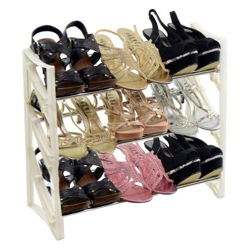 new 3 tier 9 pair high heel shoe rack storage organiser
