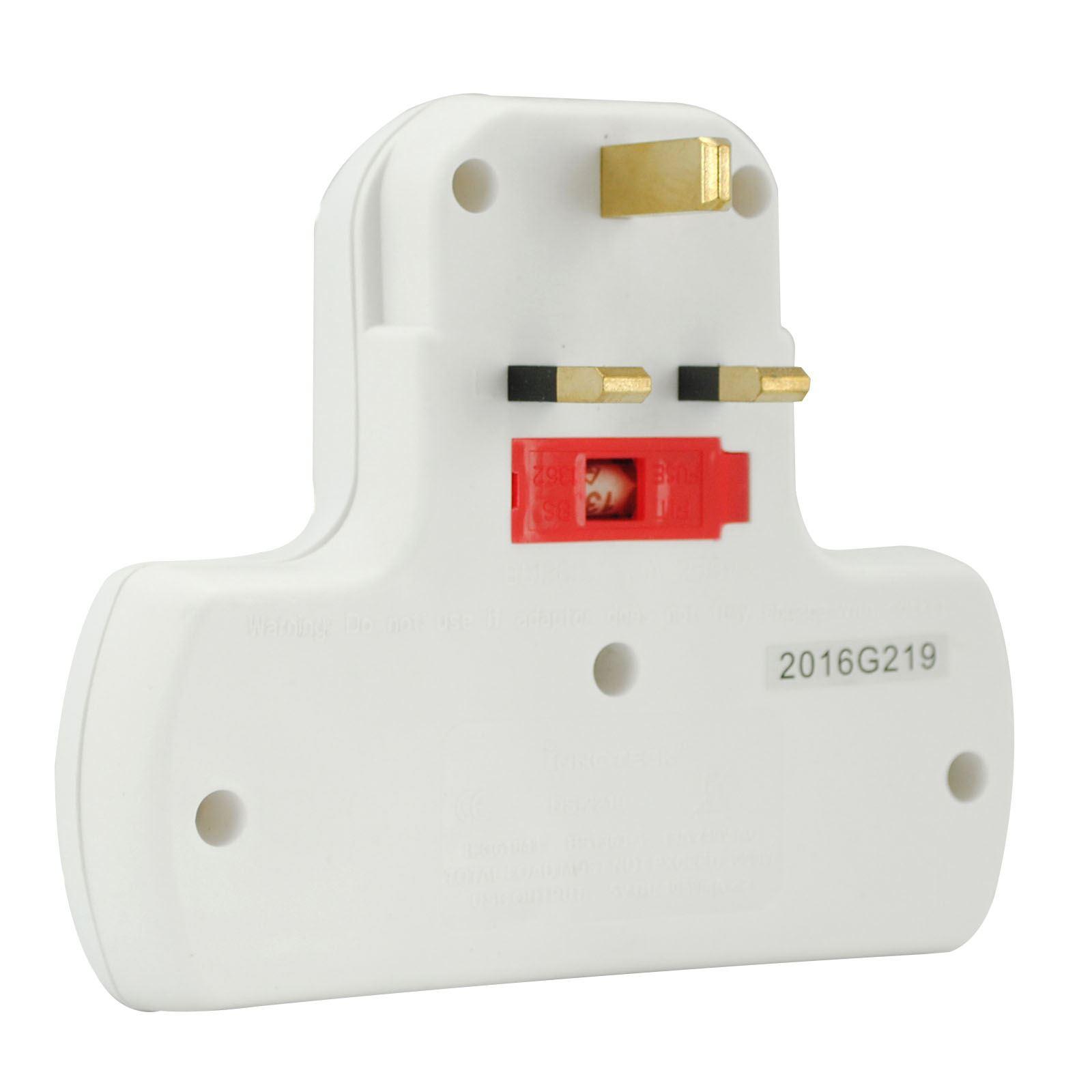 Usb Multi Plug Extension Lead : Multi plug gang way uk mains extension lead cable