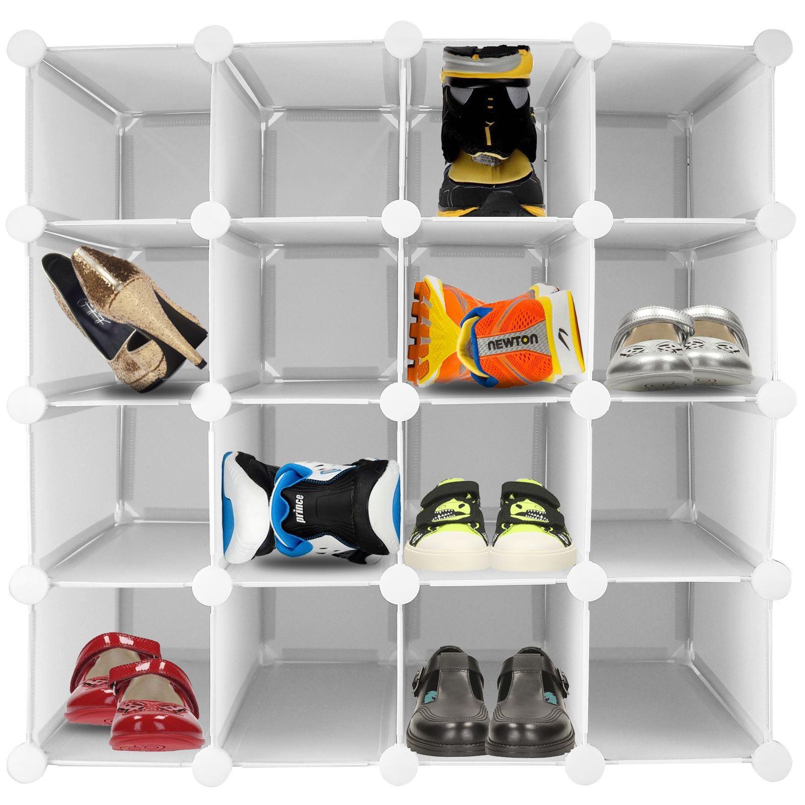 Exhibition Stand Organisers : Pair interlocking shoe organiser storage shelf cube