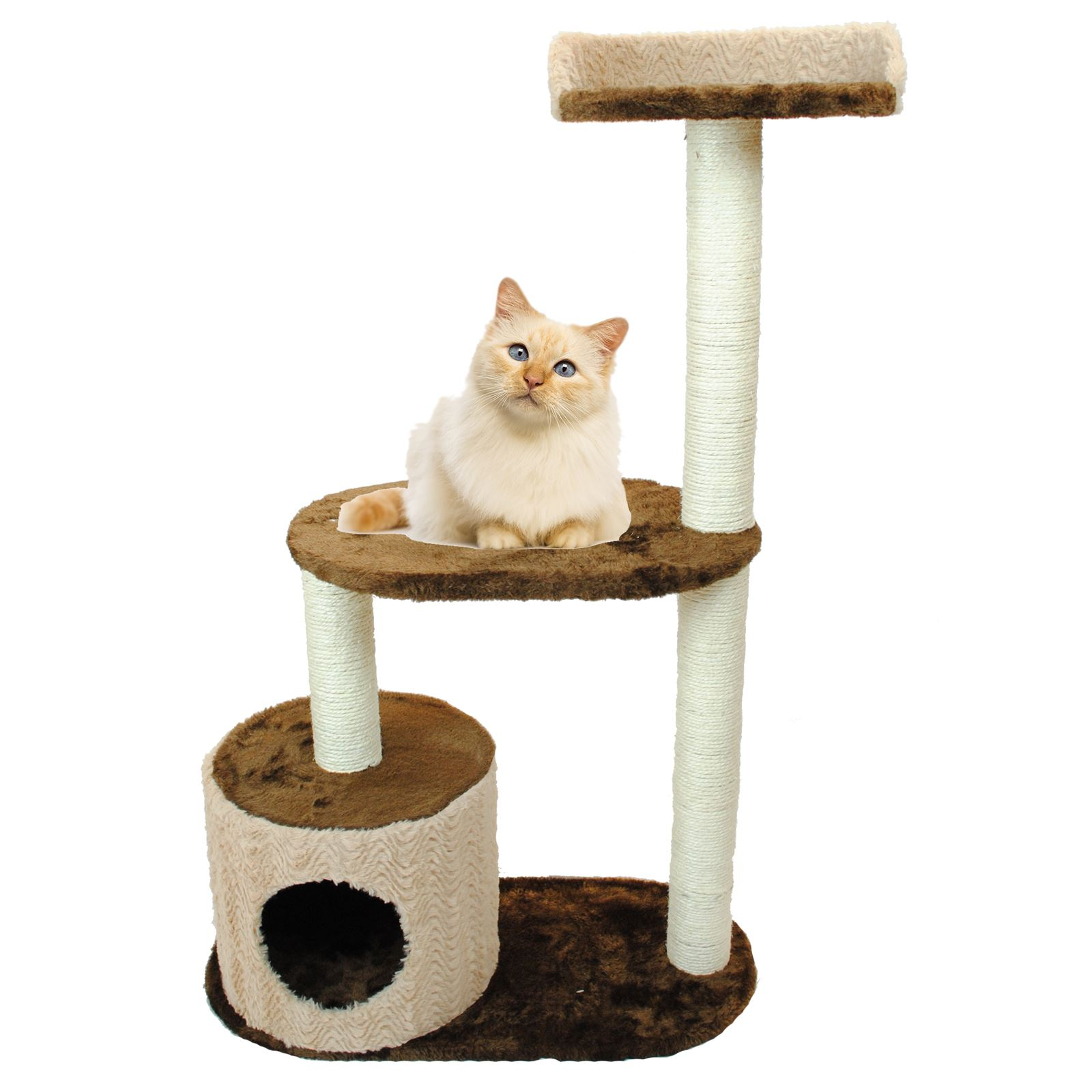 Condo furniture cat kitten scratching post climbing tree bed ebay - Cat bed scratcher ...