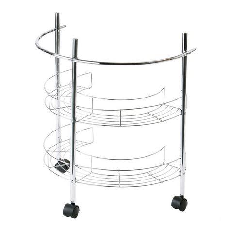 2 Tier Chrome Under Basin Bathroom Sink Storage Shelf