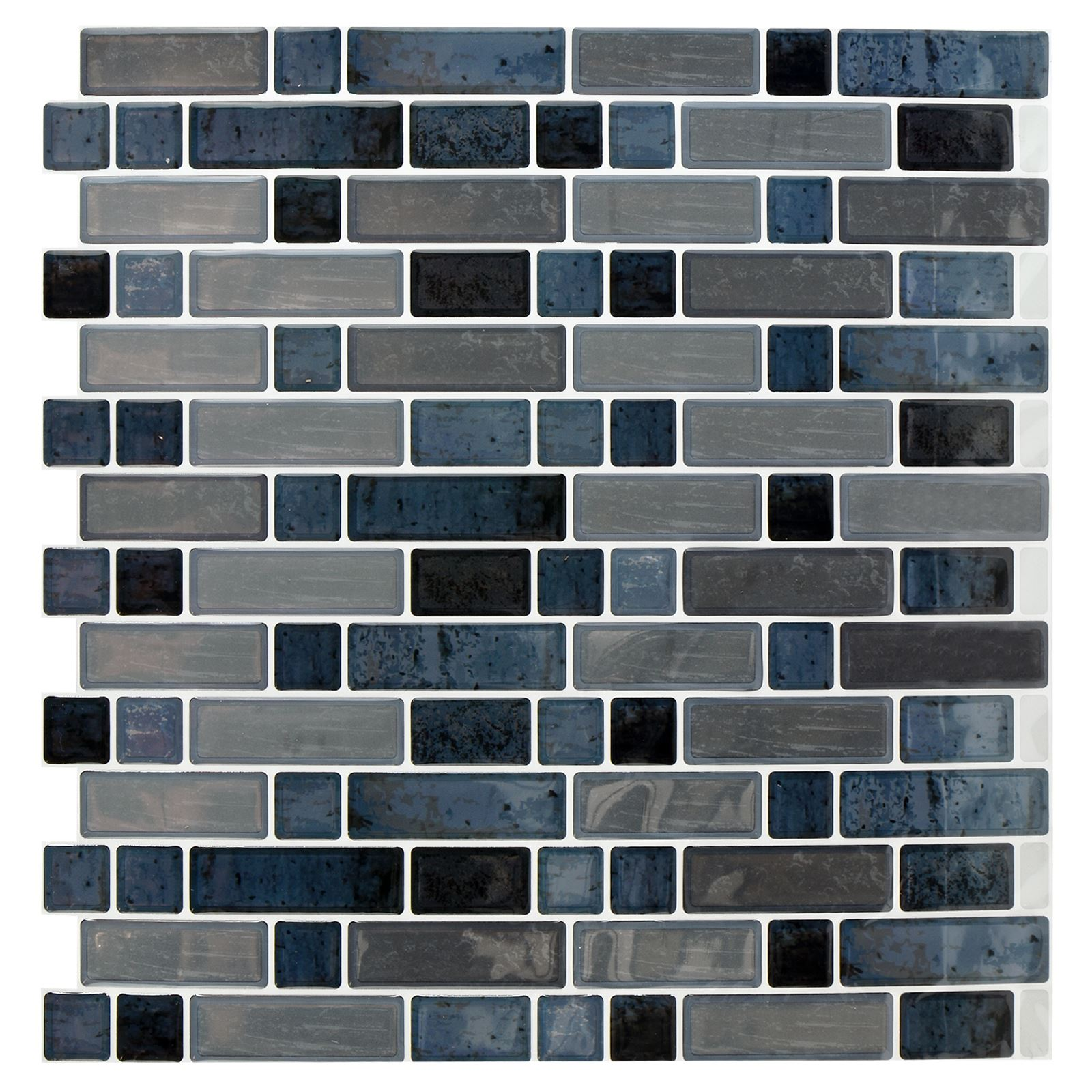 Self adhesive mosaic tile stickers bathroom kitchen for Bathroom tile stickers