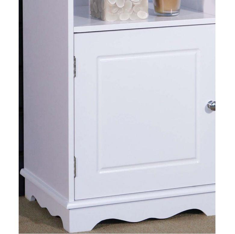 white bedroom bathroom storage cabinet cupboard freestanding unit
