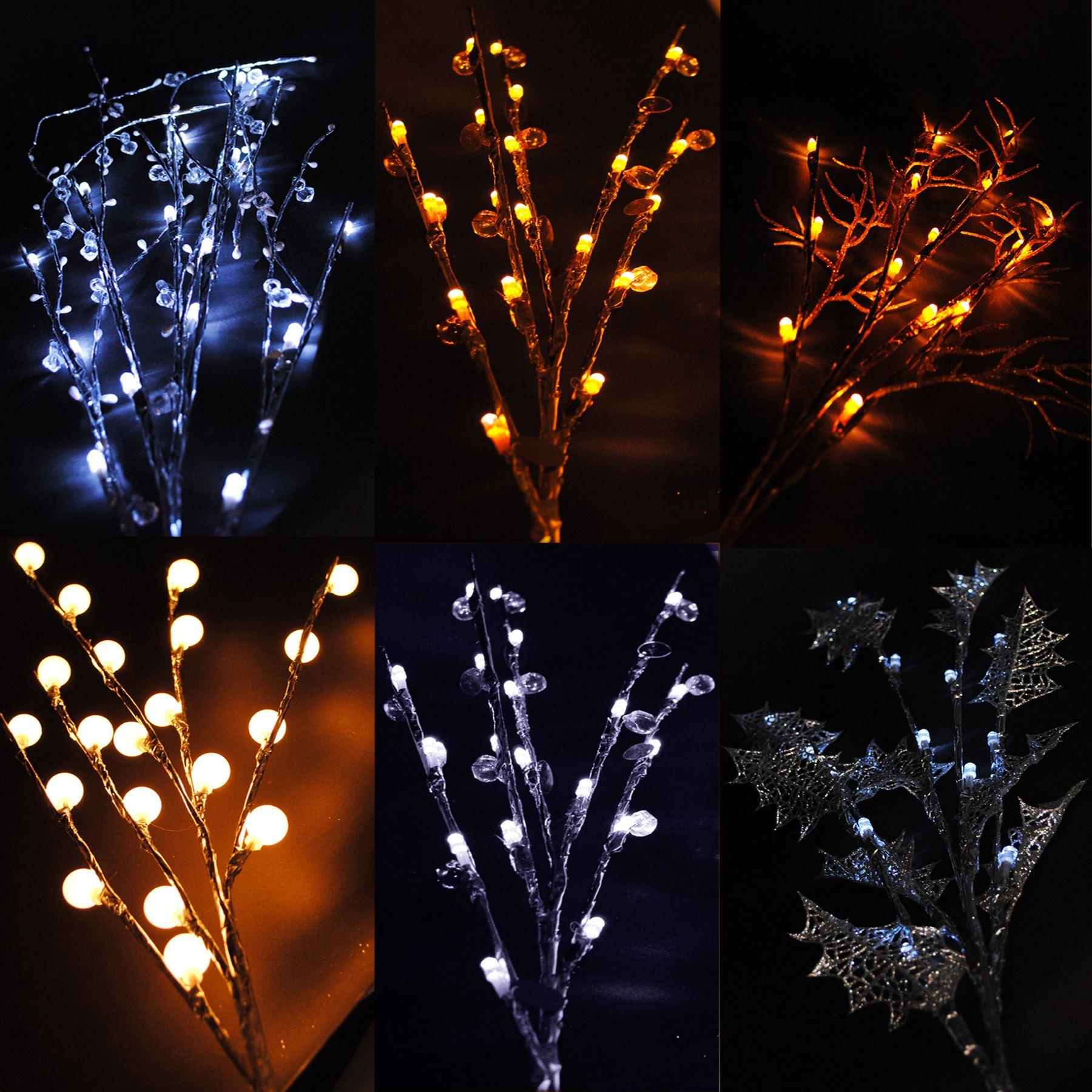 Christmas led branch twig lights indoor battery home for Decoration lights indoor