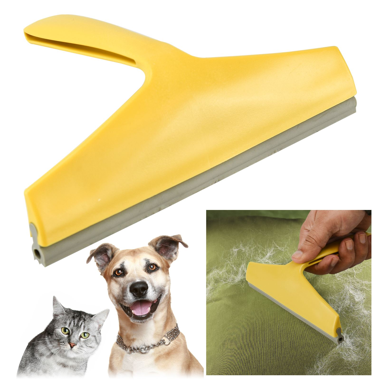 pet hair remover home car fabric upholstery carpet seats rubber blade comb brush ebay. Black Bedroom Furniture Sets. Home Design Ideas