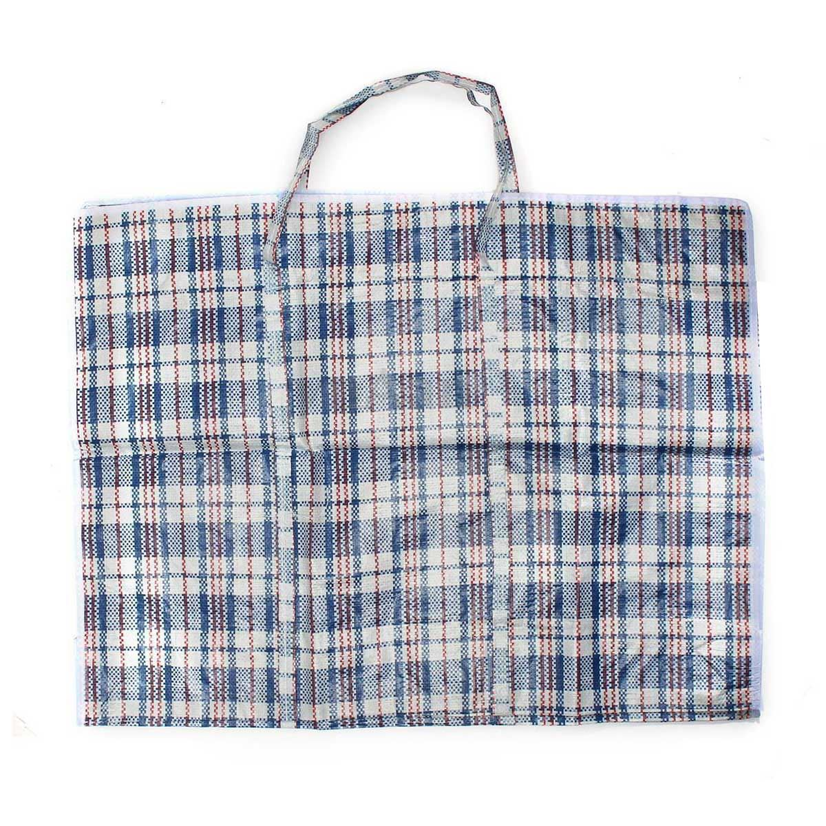 Large Woven Plastic Laundry Bag Tote Storage Zipper Closing Groceries Shopping Ebay