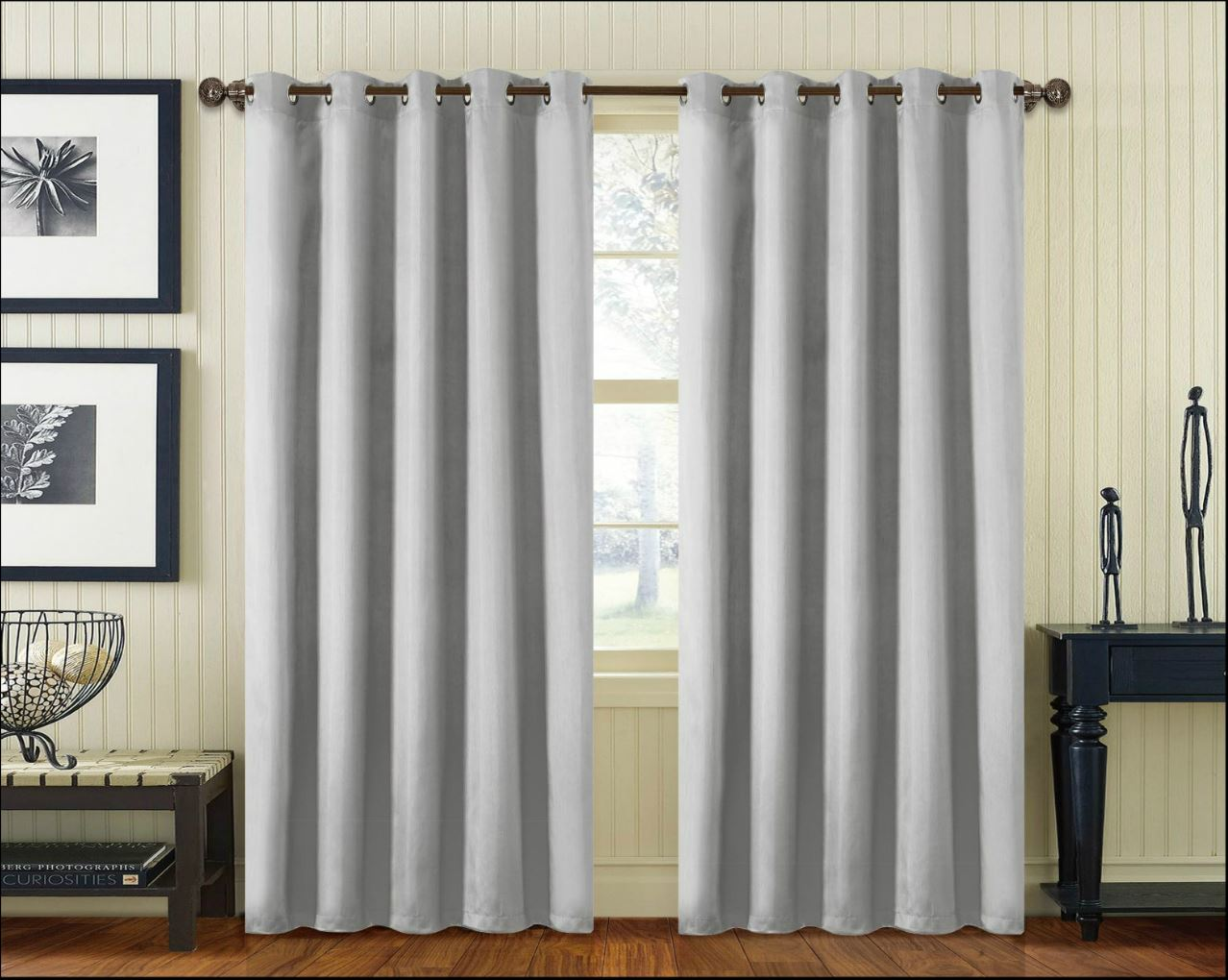 Pair Faux Silk Curtain Ring Top Eyelet Fully Lined Super Soft Ready Made Bedroom Ebay