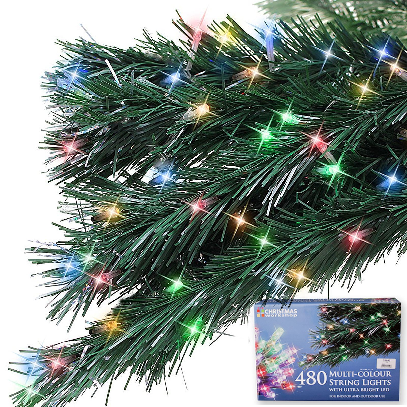 480 Bright LED String Christmas Light Static Xmas Tree ...