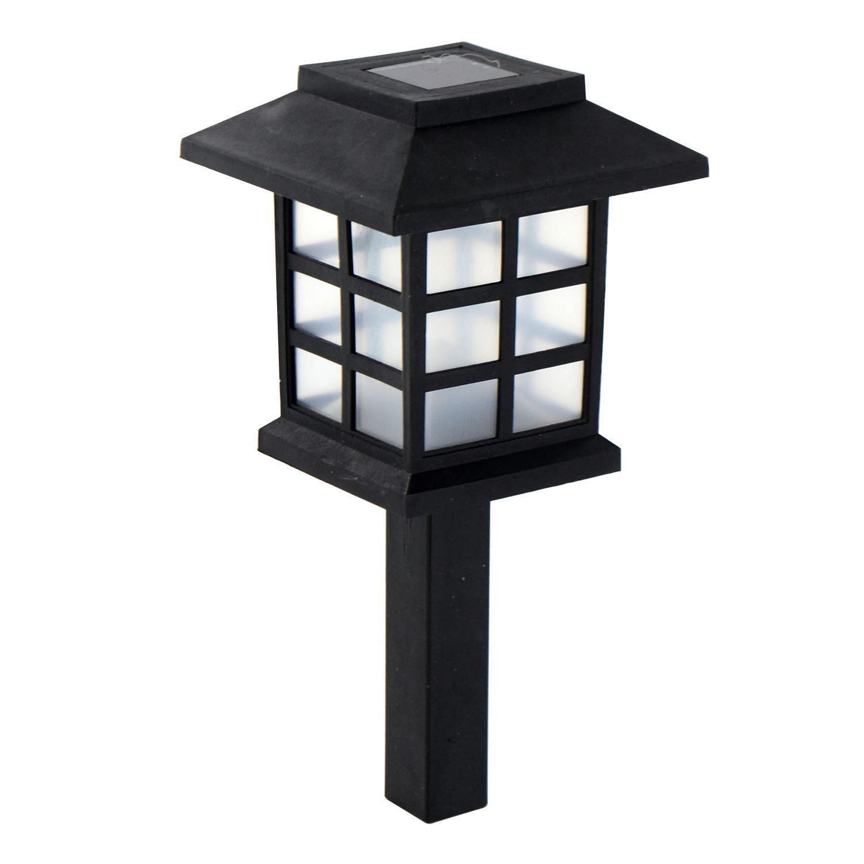 Solar Powered Carriage Lights Outdoor Garden Oriental Led Post Stake Lantern Ebay