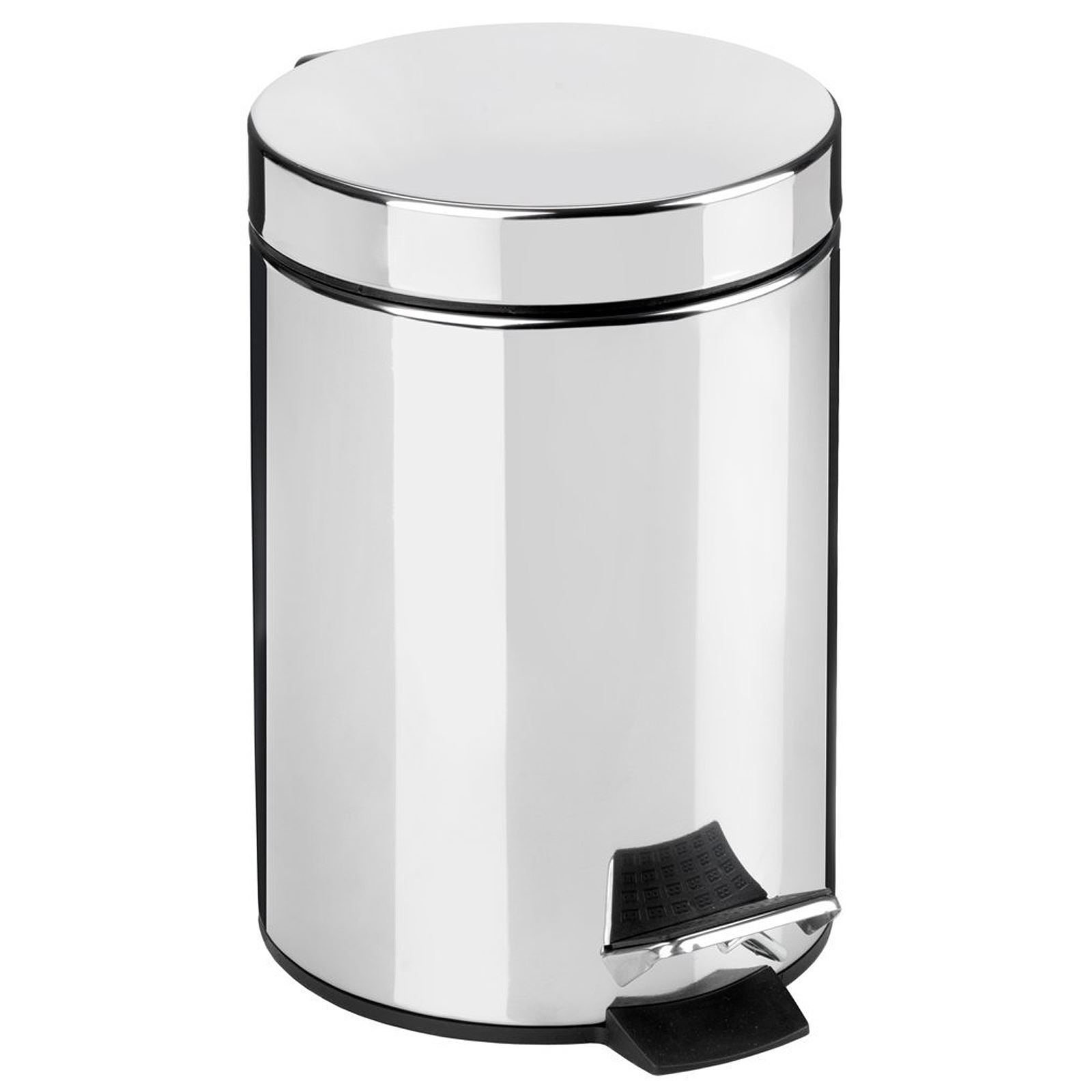 3l litre small pedal bin rubbish hygienic stainless steel. Black Bedroom Furniture Sets. Home Design Ideas
