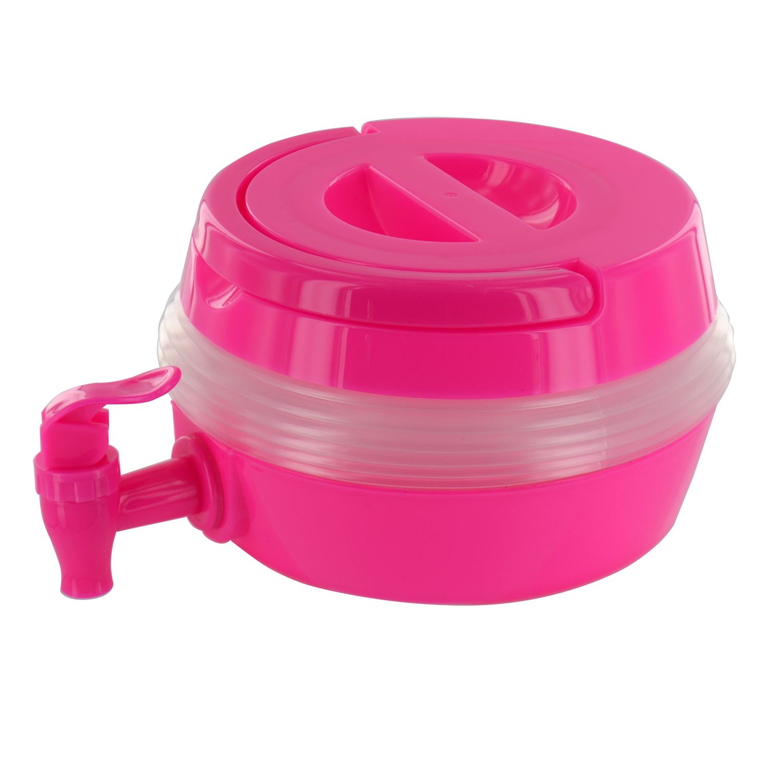 Collapsible Folding Water Dispenser Portable Drinks Container Camping With Tap