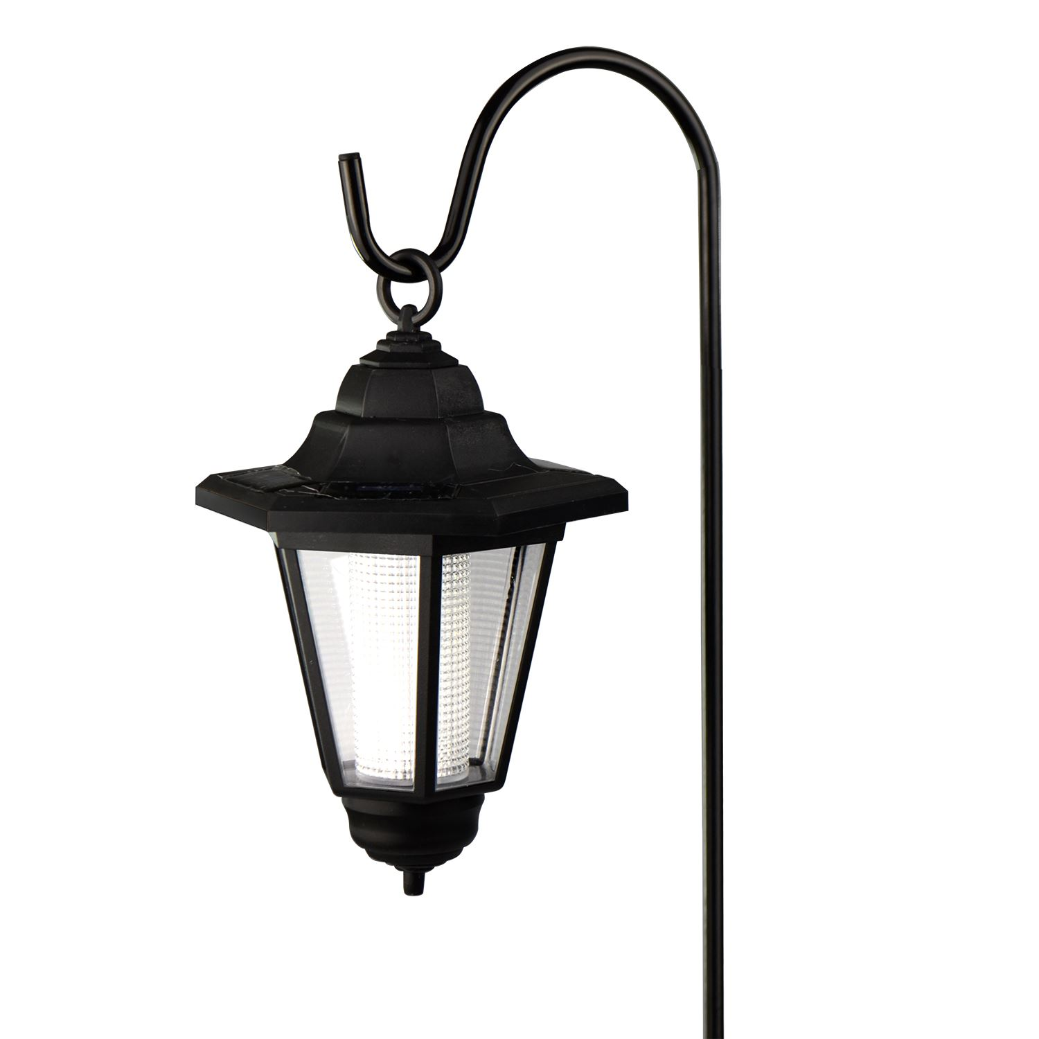 Solar Powered Hanging Lantern With Sheperds Hook Outdoor