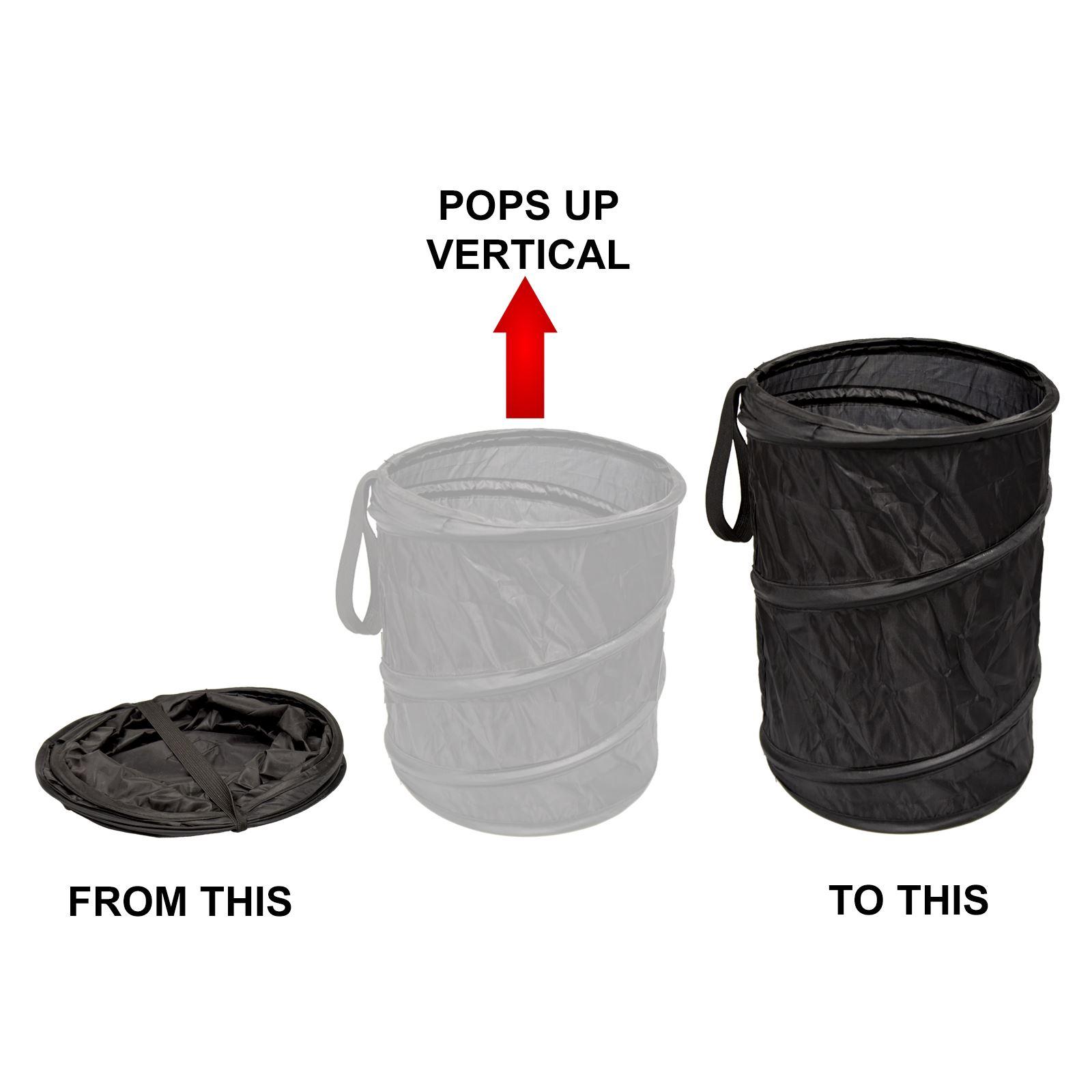 Large collapsible car bin mini trash garbage rubbish hang foldable waste basket ebay - Collapsible waste basket ...