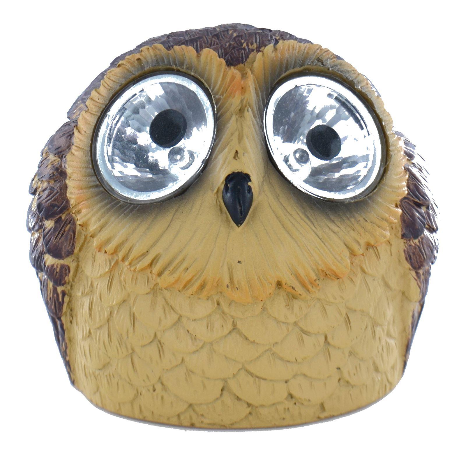 Novelty Solar Powered Owl LED Light Outdoor Garden Ornament Animal Lighting