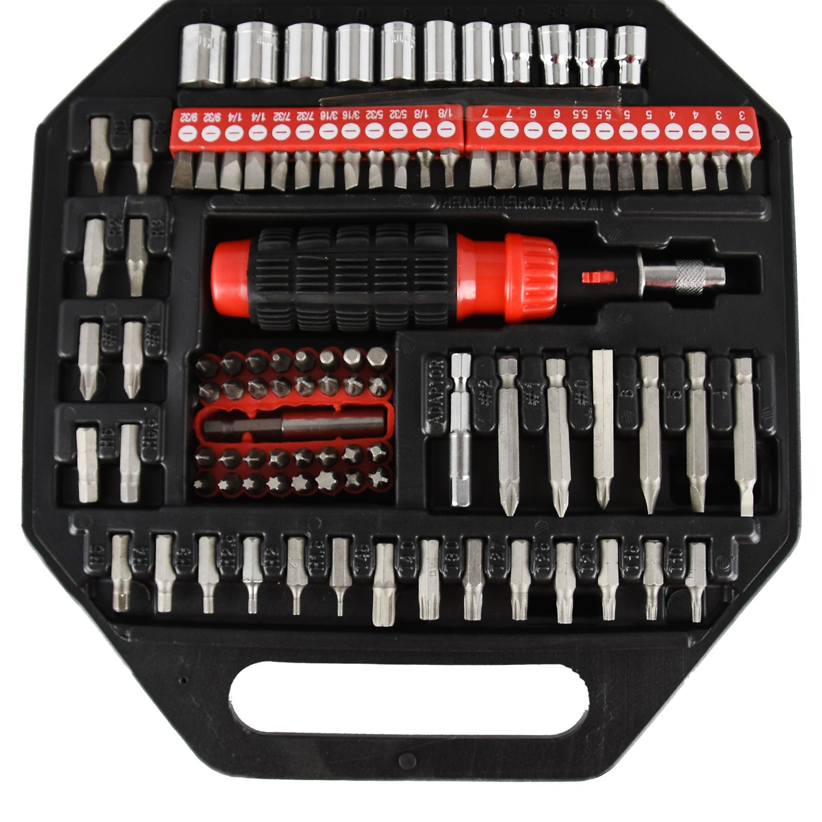 101pc assorted screwdriver bit set ratchet driver tool kit strong carry case. Black Bedroom Furniture Sets. Home Design Ideas