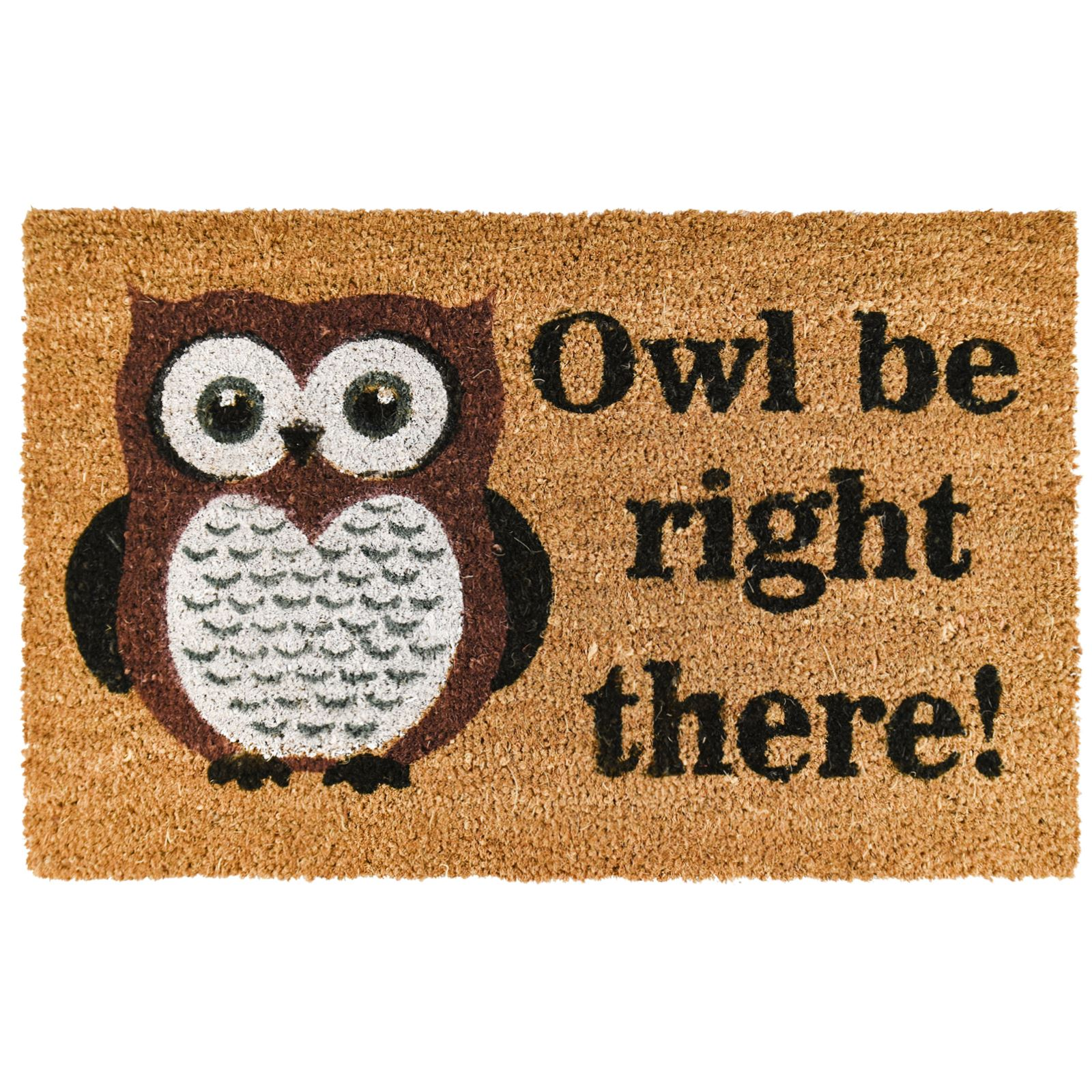 Novelty non slip door mat tough natural coir pvc back welcome doormat 45 x 75cm ebay - Novelty welcome mats ...