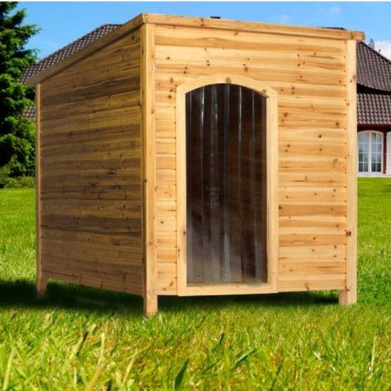 Outdoor Shelters For Pets : Large waterproof wooden cedar dog house outdoor pet kennel