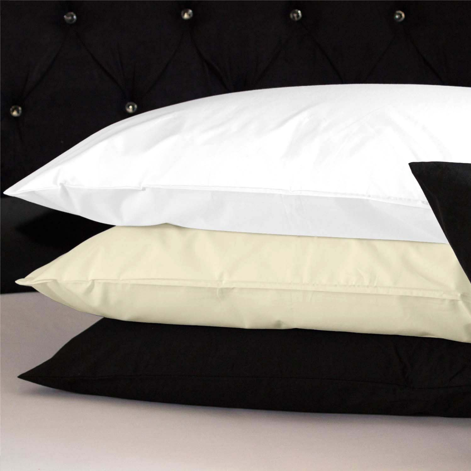 100 cotton fitted bed sheets pillow cases single double king size bedding ebay. Black Bedroom Furniture Sets. Home Design Ideas