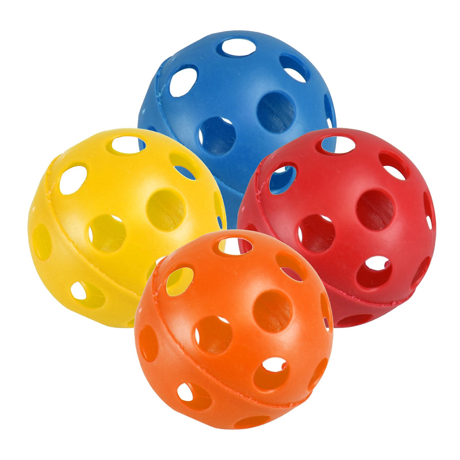 Plastic Toy Balls : Pack pet play balls large hollow plastic coloured air