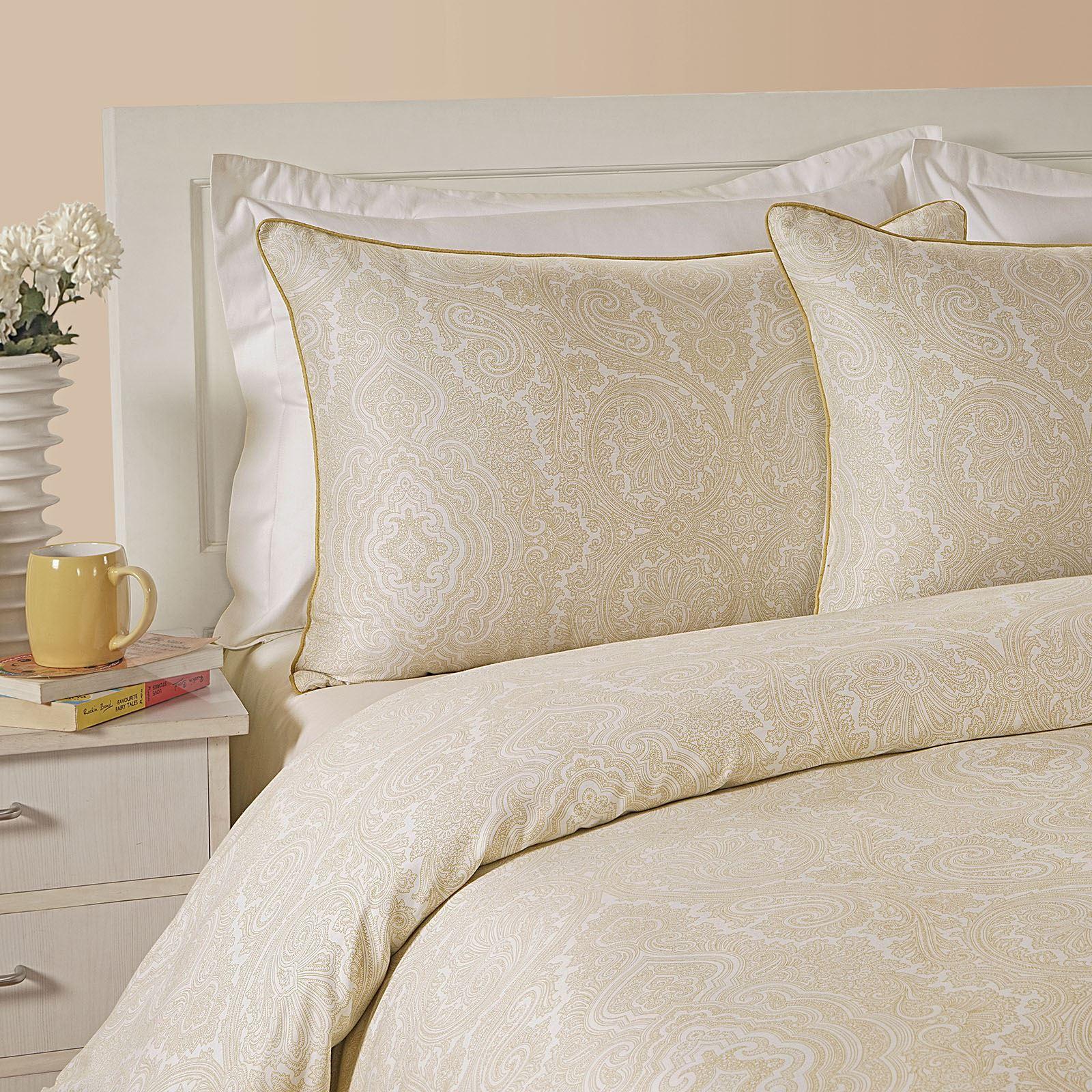 400tc Luxury Cotton Rich Paisley Printed Duvet Cover