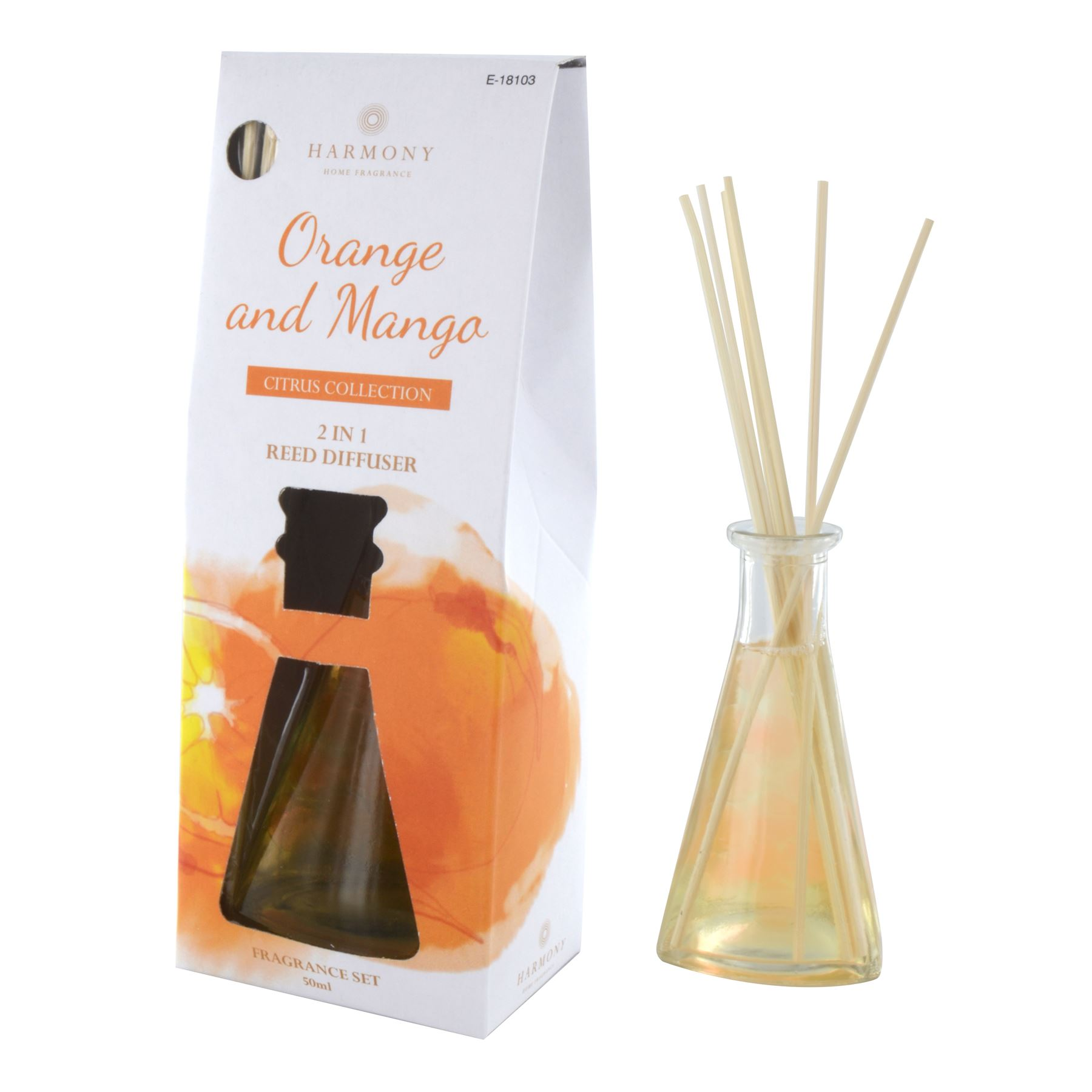 50ml Reed Diffuser Set Room Air Freshener Fragrances Home ...
