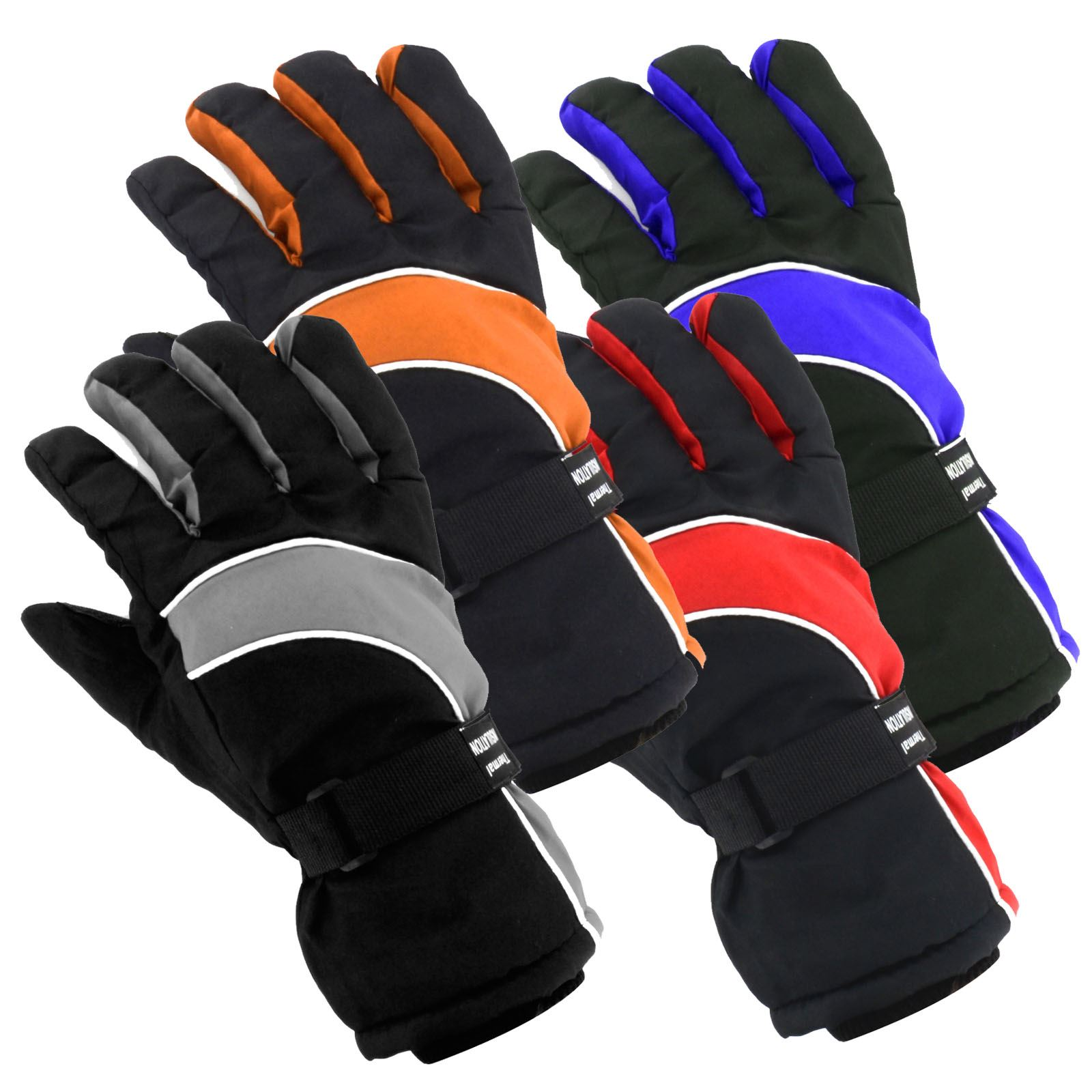 Sport Snow Gloves: Mens Ladies Unisex Thermal Ski Snowboard Gloves Waterproof
