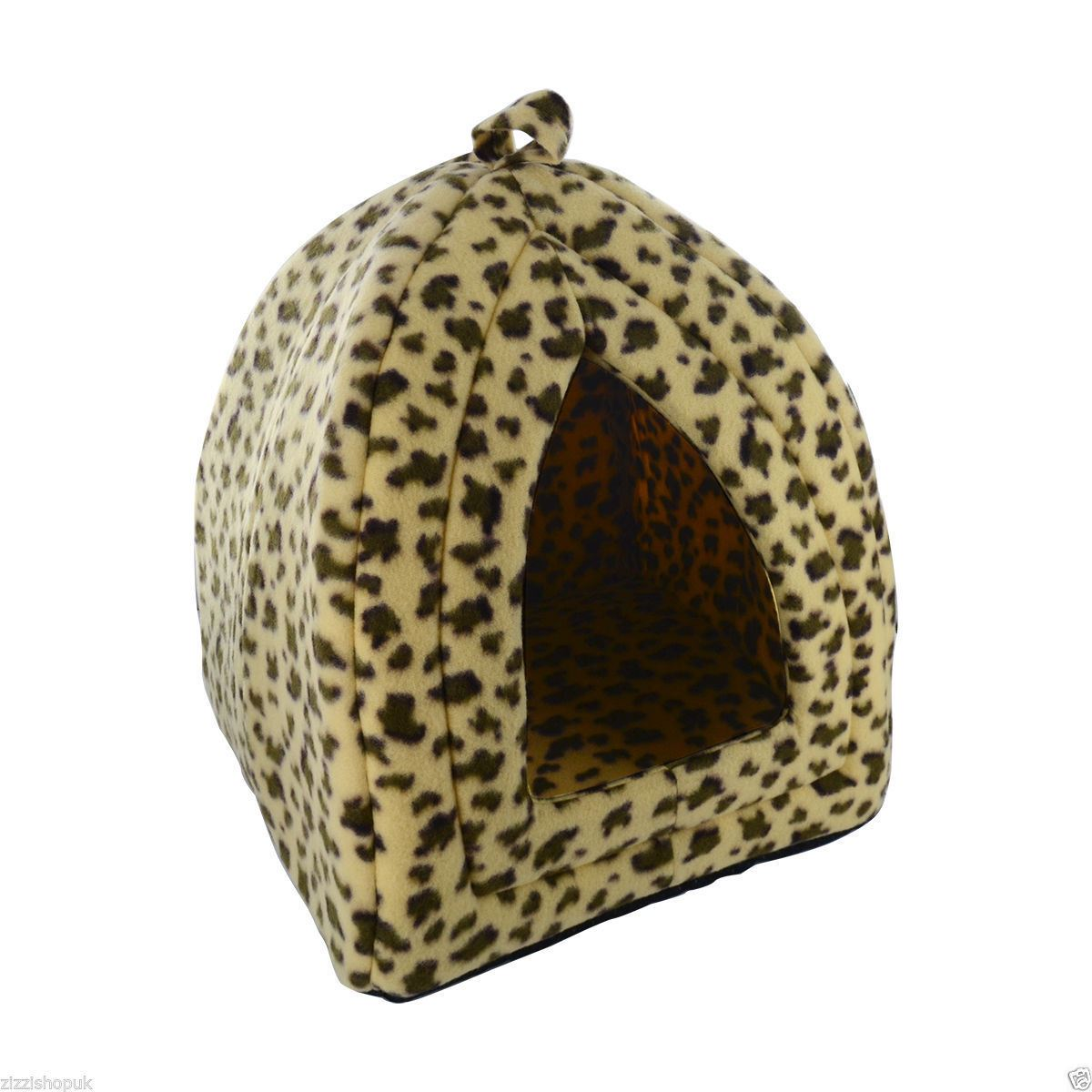 New-Dog-Cat-Warm-Fleece-Winter-Bed-Igloo-House-Soft-Luxury-Basket-For-Pets-Puppy