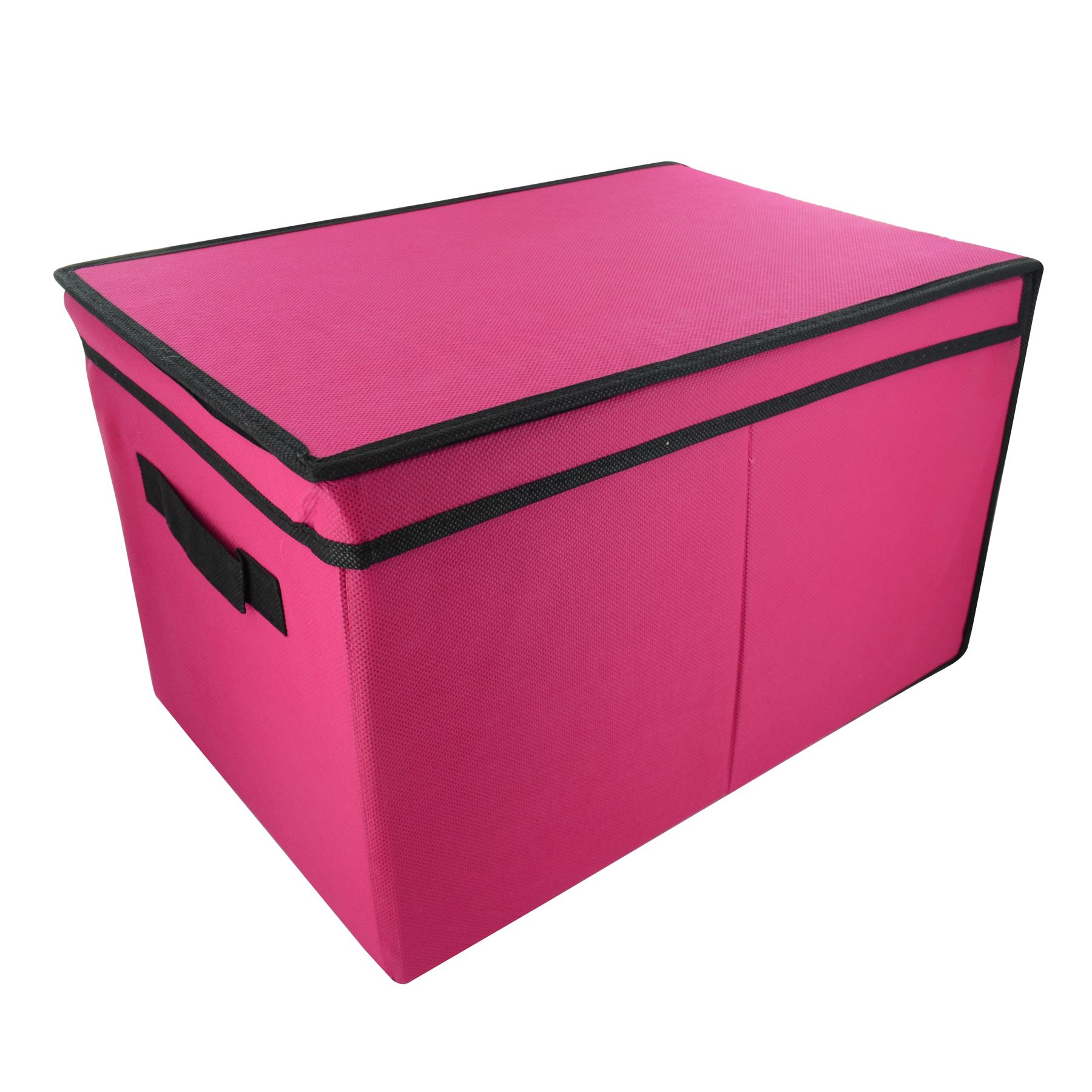 ... -Tote-Canvas-Storage-Toy-Box-Foldable-Lid-Books-Clothes-Tidy-Handle